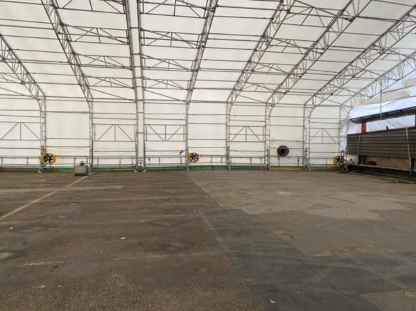 Ventileren in tent voor schadelijke CO gassen
