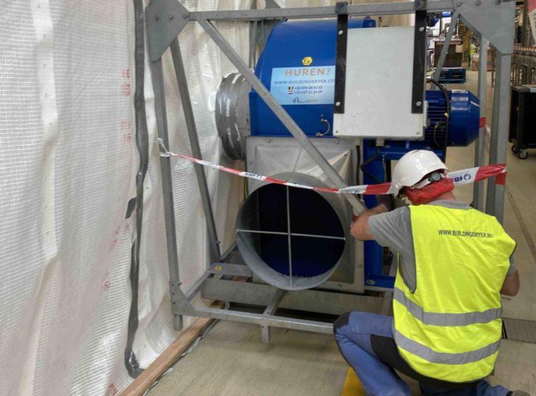 Radiaal ventilatoren voor de bouw en industrie
